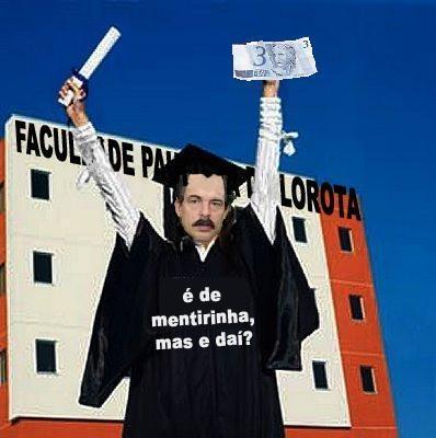 Mercadante, seu diploma de doutorado e sua nota de 3 Reais