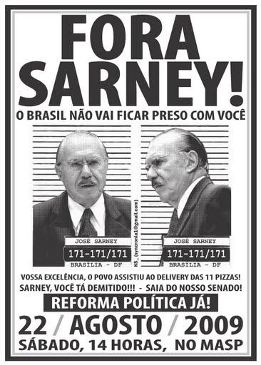 José Sarney representa o atraso, um Brasil arcaico que queremos enterrar